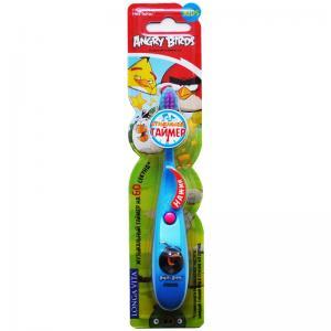 Детская зубная щётка LONGA VITA Angry Birds с музыкальным таймером