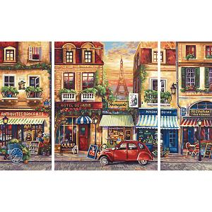 Картина-триптих по номерам  Париж 50х80 см Schipper