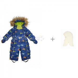 Комбинезон-трансформер для мальчика Космос и Joha Шапка-шлем Базовый 97975 Oldos