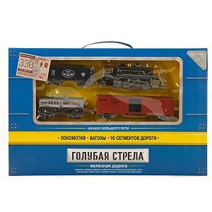 Железная дорога , 3 вагона Голубая стрела. Цвет: разноцветный