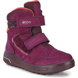 Утеплённые ботинки ECCO. Цвет: красный