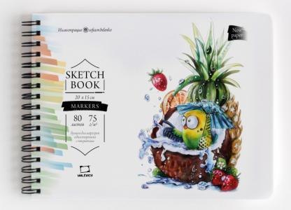 Скетчбук для маркеров Sketch 20х15 см 80 л Малевичъ