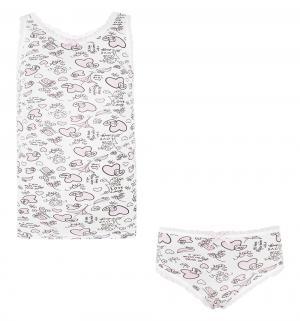 Комплект майка/трусы , цвет: розовый Tiger baby & kids