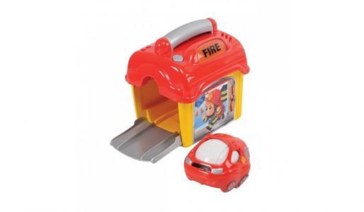 Игровой набор Пожарная станция с машинкой Playgo