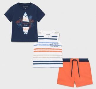 Комплект для мальчика (футболка, майка, шорты) 1672 Mayoral