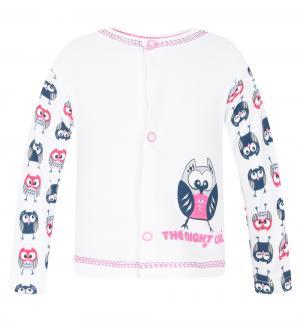Кофта  Owl, цвет: белый/розовый Mamatti