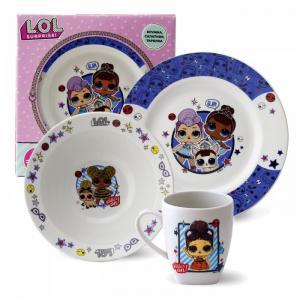 ND Play Набор посуды из фарфора L.O.L. Surprise (3 предмета)