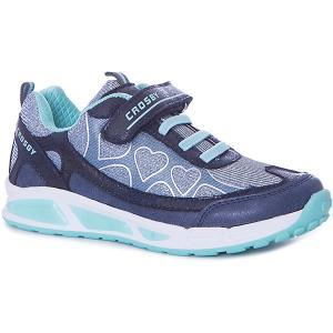 Кроссовки  для девочки Crosby. Цвет: синий