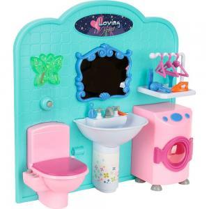 Мебель для куклы белый/розовый/голубой S+S Toys