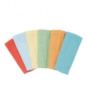 Муслиновые салфетки  однотонные, 6 шт. в упаковке Mothercare