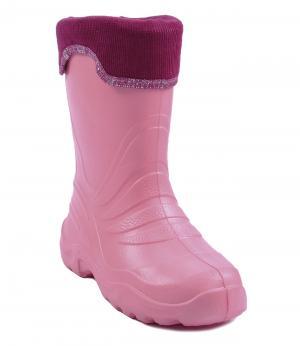 Резиновые сапоги утепленные (розовые) Lemigo. Цвет: розовый