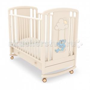 Детская кроватка  Жаклин Мишка на качелях качалка Angela Bella