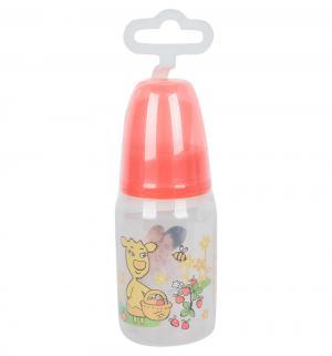 Бутылочка  для кормления полипропилен с рождения, 125 мл, цвет: красный Мир Детства