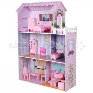 Кукольный домик с мебелью из дерева Волшебная сказка Kids4kids
