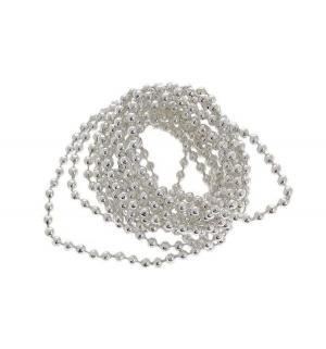 Новогоднее украшение  Бусы-шарики серебро 270 см Яркий Праздник