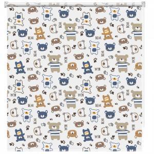 Рулонная штора Принт Мишки Мини 50x160 см Decofest