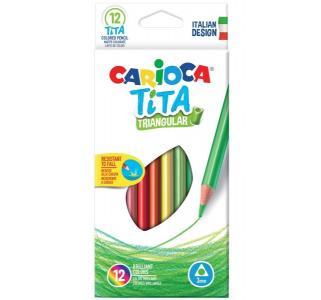 Карандаши цветные  tita трехгран. 12 цв. Carioca