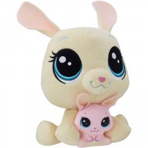 Мягкая игрушка Littlest Pet Shop Плюшевые парочки Vanilla Velvetears и Bijou Velvetears, 16 см Hasbro