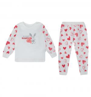 Пижама джемпер/брюки , цвет: белый/красный Mamatti