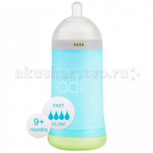 Бутылочка  NxGen Fast Flow силикон от 9 мес. 281 мл Adiri