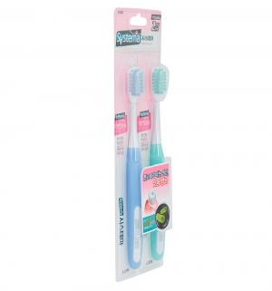 Зубная щетка  Systema для чувствительных десен, цвет: бирюзовый/голубой CJ Lion