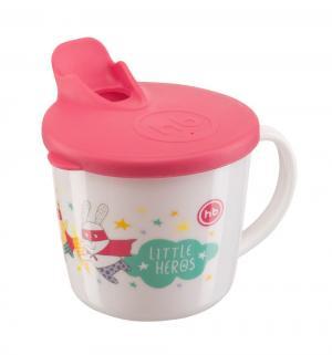 Кружка  Training cup для кормления, с 8 мес, цвет: красный Happy Baby