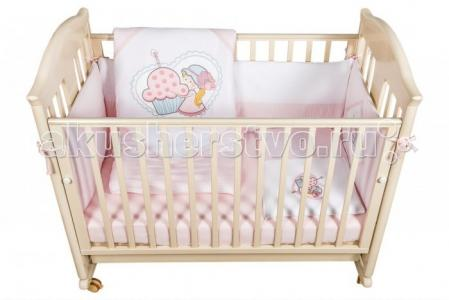 Комплект в кроватку  Cutie Pie (6 предметов) Bebe Luvicci