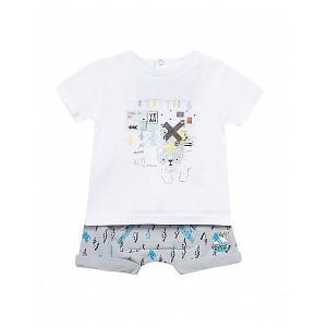 Комплект : футболка, шорты 3 Pommes. Цвет: светло-серый