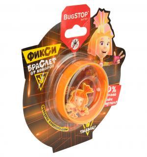 Браслет Симка оранжевый  Фиксибраслет от комаров Bugstop