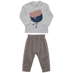 Комплект джемпер/брюки , цвет: коричневый/белый Kidaxi