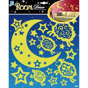 Наклейка Барашки светящиеся RDA8317, Room Decor