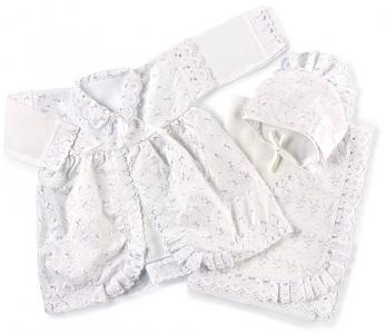 Комплект  для девочки, цвет: белый Осьминожка