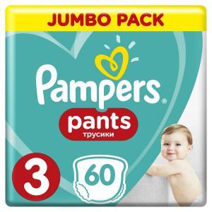 Трусики  Pants 3 размер (6-11 кг) 60 шт. Pampers