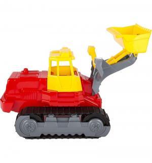 Гусеничный трактор-погрузчик  красно-желтый Полесье