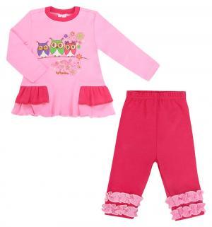 Комплект платье/леггинсы  Зайчик мой, цвет: розовый Pepelino