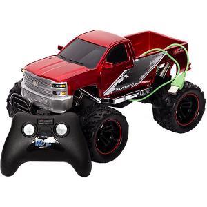 Машинка на радиоуправлении  Chargers Truck 1:18 красная New Bright. Цвет: красный