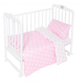 Комплект постельного белья  Stelle Rosa, цвет: розовый 3 предмета пододеяльник 140 х 110 см Sweet Baby