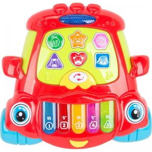 Игровая панель  Е-нотка Пианино цвет: красный 24 см Tongde