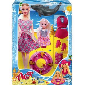 Набор кукол  Морское приключение Ася с малышкой Toys Lab. Цвет: розовый