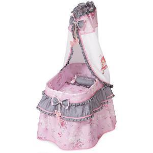 Кроватка с балдахином , серия Кэрол, 52см DeCuevas. Цвет: розовый