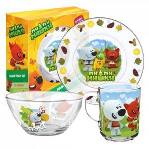 ND Play Набор стеклянной посуды «Мимимишки» Кеша друзья (3 предмета)