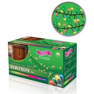Электрогирлянда  с эффектом Фейерверк, 2 м B&H. Цвет: разноцветный