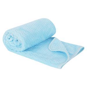 Плед  Волны 90 х 130 см, цвет: голубой Зайка Моя