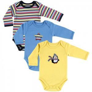 Комплект Боди длинный рукав Пингвин 3 шт. Hudson Baby