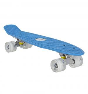 Скейтборд  JC-001, цвет: голубой Leader Kids