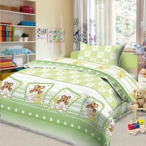 Детское постельное белье 3 предмета , BG-84 Letto. Цвет: белый