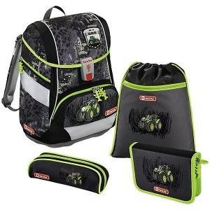 Ранец-рюкзак с наполнением Hama Step By 2in1 Green Tractor. Цвет: schwarz/grün