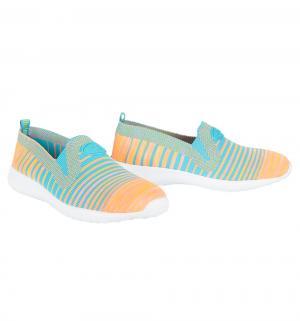 Кроссовки  1, цвет: голубой/оранжевый Зебра