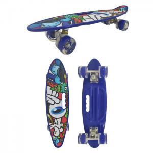 Скейтборд пластиковый со светом Т17036 Navigator