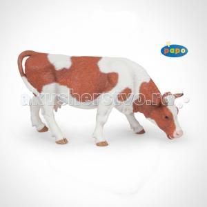 Игровая реалистичная фигурка Пасущаяся симментальская корова Papo